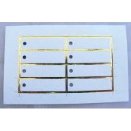 Etiquettes rectangulaire tour or par 8