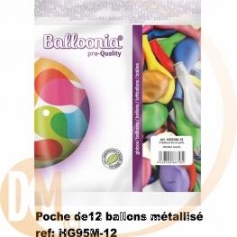 Ballons metal par 12 ( deco mariage )