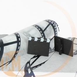 Marque place clap de film en bois par 6