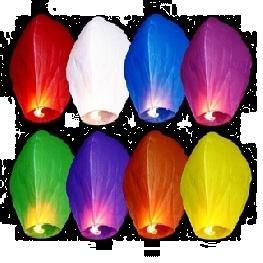 Lanterne volante, Sky lanterne de couleur
