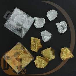 Boite pvc de 50 pétales en tissu doré