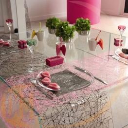 Serviettes de table motif fête