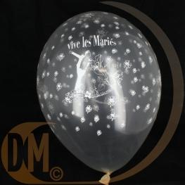 Ballons serigraphies transparent