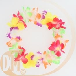Collier Hawaien en tissu