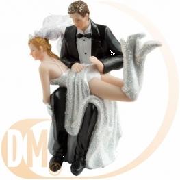 Figurine couple de mariés pas sage