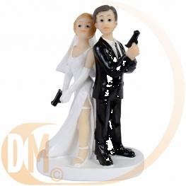 Couple de mariés espions