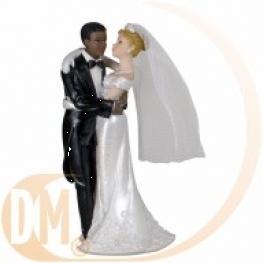 Couple de mariés mixtes