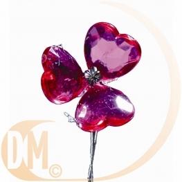 6 bouquet de coeurs cristal