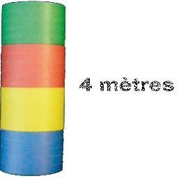 Rouleau de serpentins multicolores