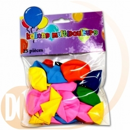 Sachet ballon couleurs assorties x25