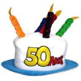 Chapeau anniversaire ans