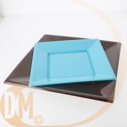 Assiettes plastiques carrées 18x18cm (12)