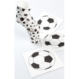 Serviette de table foot