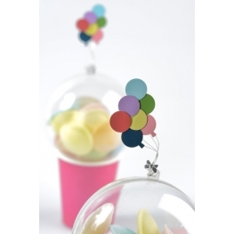 Ballons multicolores autocollants