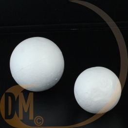 2 boules polystyrene