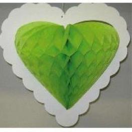 Coeur en papier alvéolé