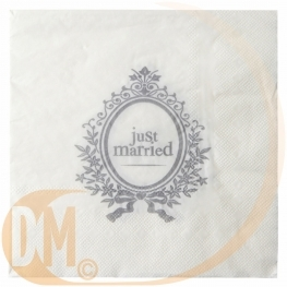 Serviette de table Just Married