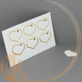 Etiquette dragées Coeur ( planche 6 ) Vierge