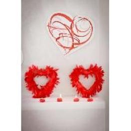 Coeur en plumes 20 cm