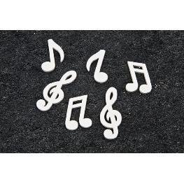 Notes de musique bois (x24)