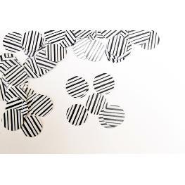 Confettis de table thème zèbre et bois