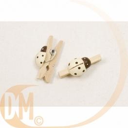 Pinces à linge avec coccinelle bois (x12)