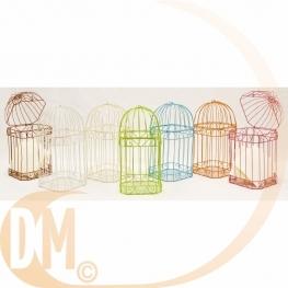 Cage métallique pour carte de voeux