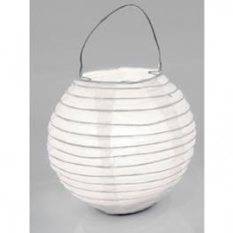 lampions boule 10 cm blanc x2