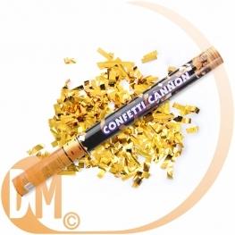 Canon à confettis métallique