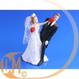 Couple de mariés boxe