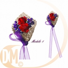 Boutonni�re avec bouquet de fleur par 2