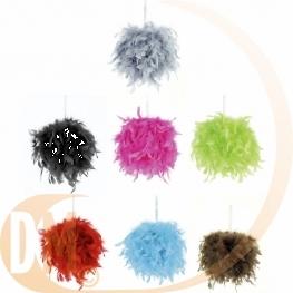 Boule plumes 20 ou 30 cm
