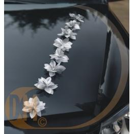 Fleurs adh�sives pour voiture de mariage