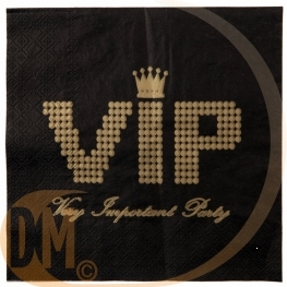 Serviette de table VIP