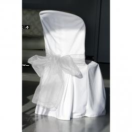 rubans ourlés en organdi pour décoration de chaise x2