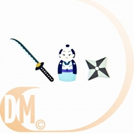 Confetti de table en bois samurai