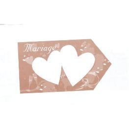 Flèche directionnelle mariage