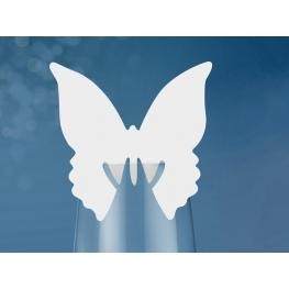 Papillon marque place pour verre par 10