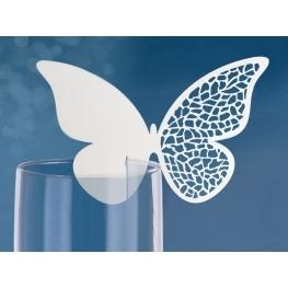 Marque place verre Papillon ajouré par 10