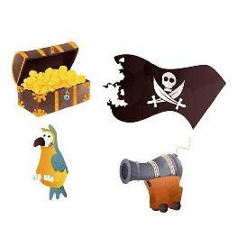 Confetti de table Pirates par 16
