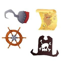 Confetti de table Motif Pirates par 16