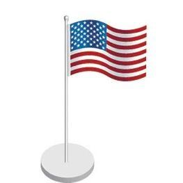 Marque place drapeau USA par 4