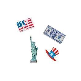 Confetti de table thème USA par 16