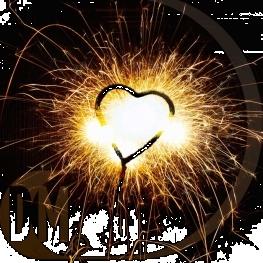Cierge magique coeur et etoiles par 6