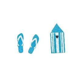 Confetti de table La plage par 16
