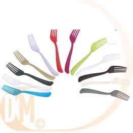 Fourchette plastique discount de couleur par 50