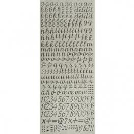 Sticker lettres et chiffres argent