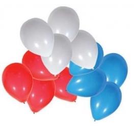 Ballons Bleu Blanc Rouge par 100