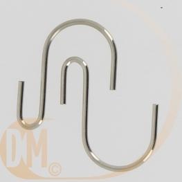 Crochet métal S asymétrique
