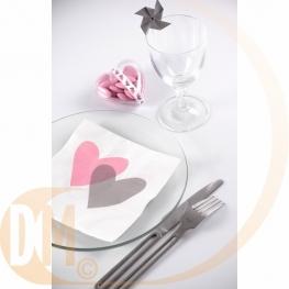 Serviette de table Coeurs